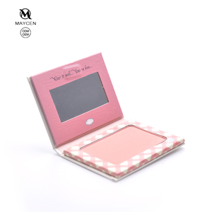 Wholesale single classic blush cardboard long lasting natural color face blushes cosmetic blusher