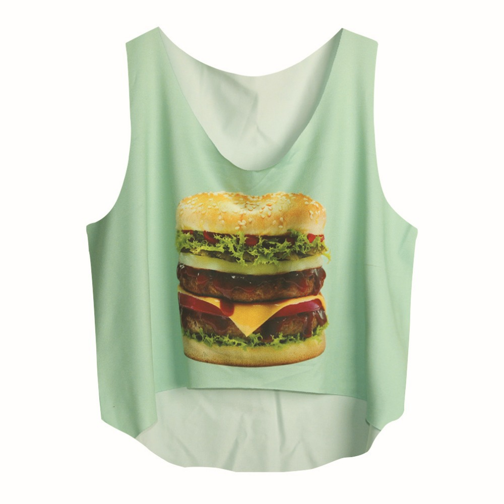 1b9fb2126996 Buy Sexy Women  39 s Bustier Crop Tank Sport Top Loose Cropped Vintage  Halter Top Womens Hamburger Tanks Tops Fashion in Cheap Price on  m.alibaba.com