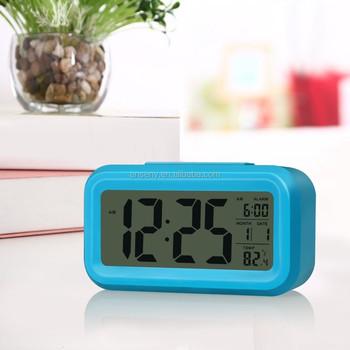 Hot Seller Colorful Big Screen LCD Digital Alarm Clock /Bedroom Desk Clever Alarm  Clock