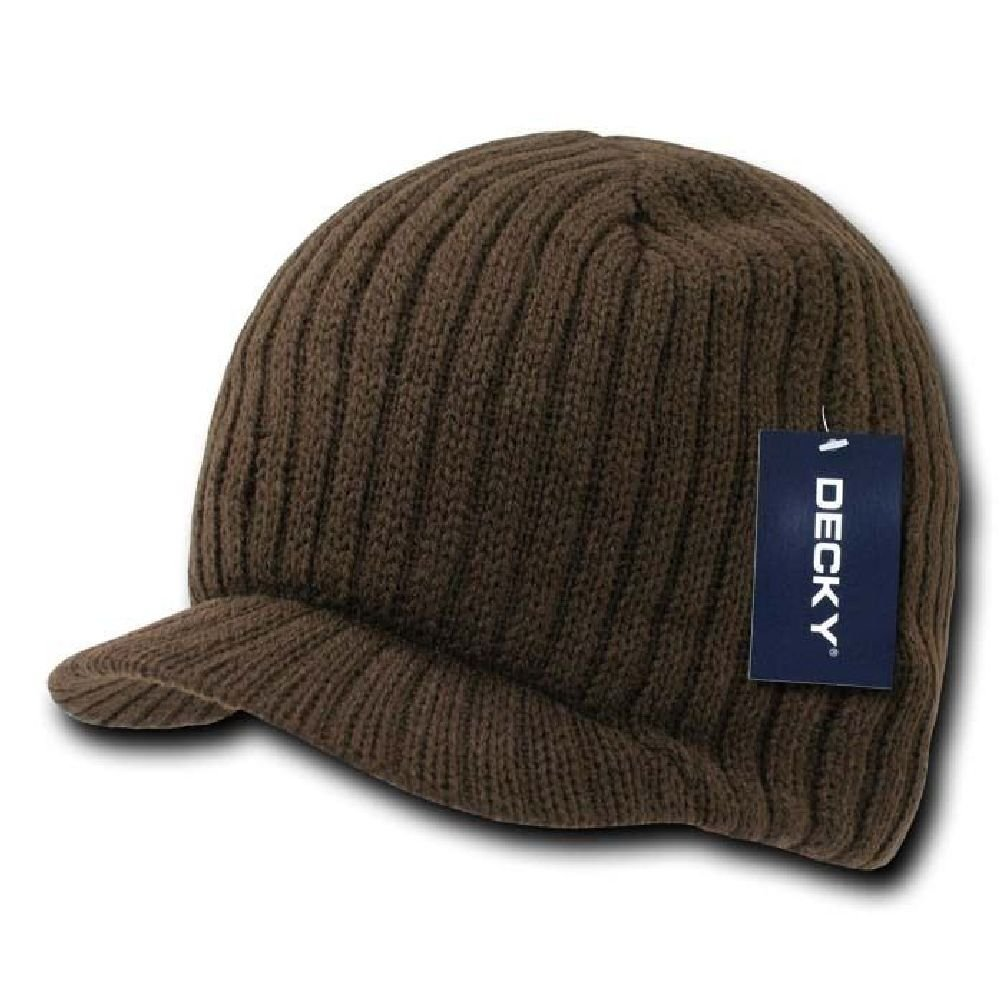 e8b7ef130c50f Get Quotations · New Brown Campus Visor Beanie Jeep Cap Hat Caps Hats