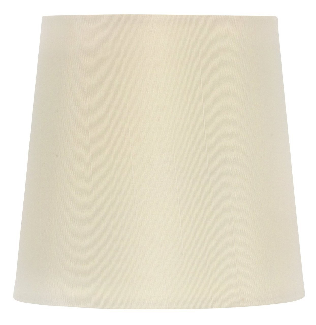 Upgradelights 5 Inch Retro Drum Clip On Chandelier Lamp Shade in Eggshell 4x5x5
