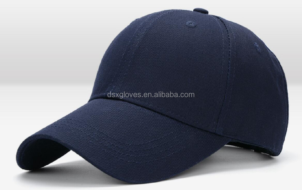 6 Panel European Style Baseball caps Printed or Embroidery Customized Logo