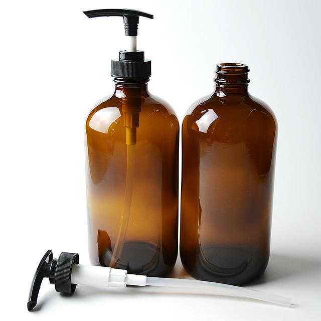 Amber Glass Bottle 1/2 oz 1oz 2oz 4oz 8oz 16oz 32oz Boston Round Essential Oil Bottles