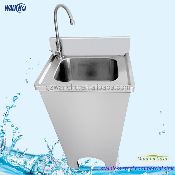 Small Foot Operated Hand Sink/Stainless Steel Hand Basin Manufacturer