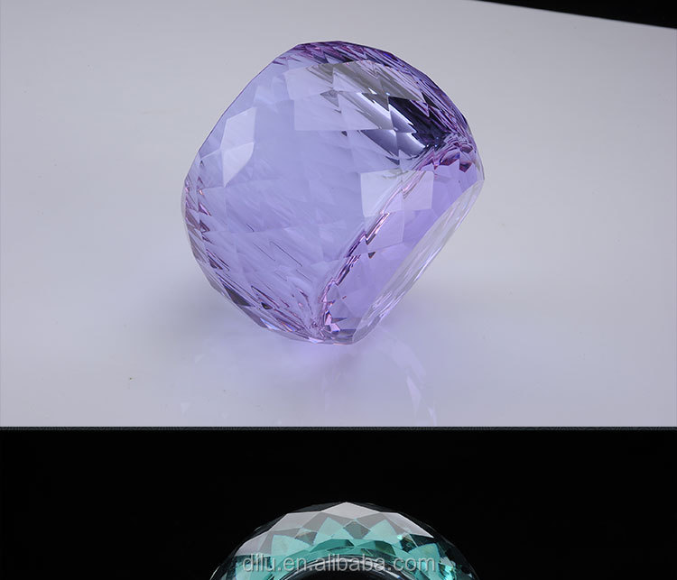 Creative Cheap Round Lollipop Cube Shape Transparent Crystal Glass ManufactureOf Candlestick Holder