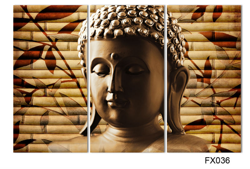 3pieces classical buddha painting solemn Buddhism wall canvas art <font><b>asian</b></font> Religion ancient picture for house <font><b>decoration</b></font> W0108
