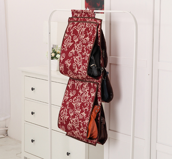 Backpack handbag Storage Bags Oxford fabric Hanging Organizer Home Supplies 5 Pocket Closet Rack Hangers