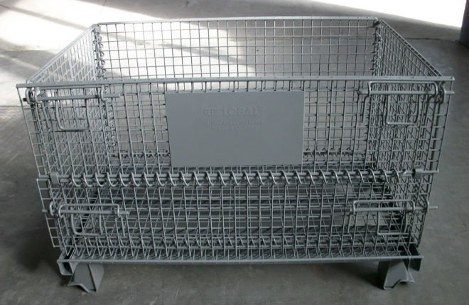 wire mesh stacking bins stacking cage wire baskets medium size