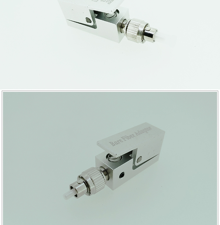 FC Metal Square Silver Type Bare Fiber Adaptor with SMA Used for OTDR Testing