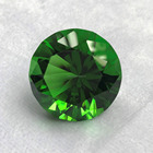 Crystal Cut Glass Diamond High Quality 80mm Green K9 Crystal Paperweight Cut Glass Large Giant Diamond Jewel Gift