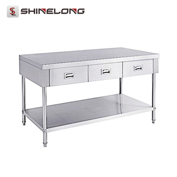S Restaurant Stainless Steel Work Table With Drawers With Under - Stainless steel work table with drawers
