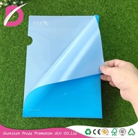 A4 Size L shape office school paper clear plastic hard cover pp pvc file folder/document