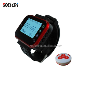 Wireless Restaurant Ordering System Customer Service Call Button Guest Paging Watch Pager For Waiter Caller