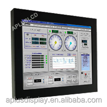 Rack Mount dual monitors sunlight readable touch screen medical lcd display for Industrial Automation Advertising Musemu