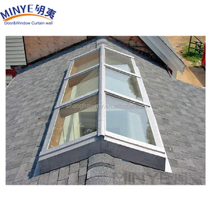Aluminum glass center-pivoted window glass used aluminum commercial door roof windows