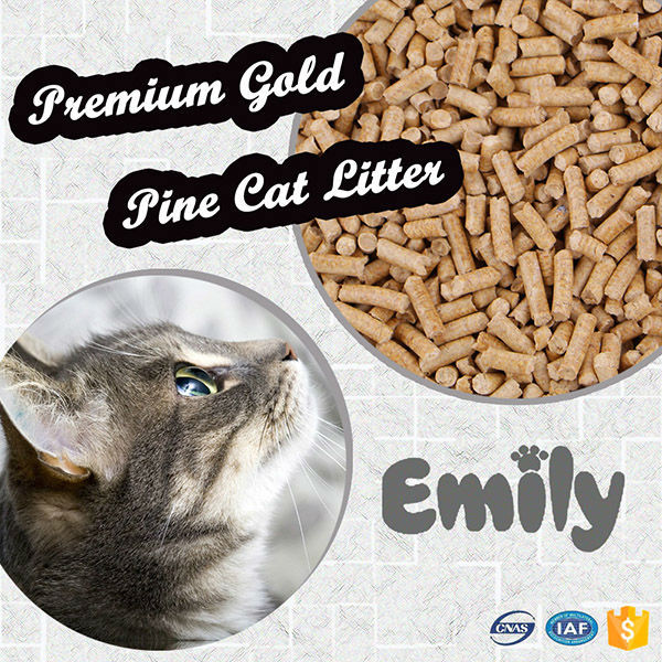 Pet cleaning grooming products yellow pine wood pellet cat litter