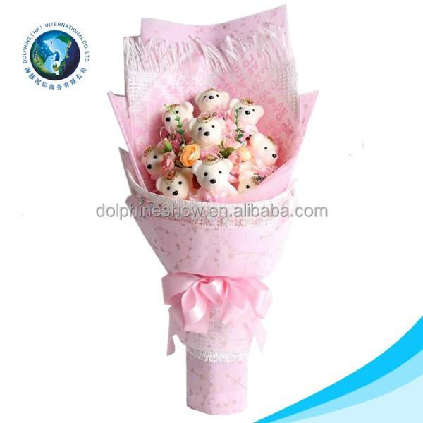 Cartoon Cute Wedding Flower Bouquet Wholesale Pretty Valentine Gift ...