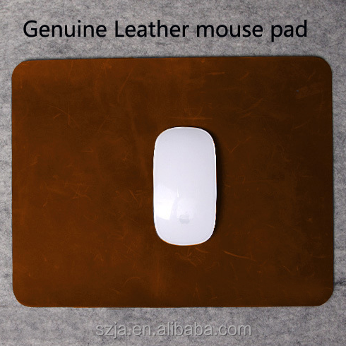 Custom Genuine Leather mouse pad with your logo