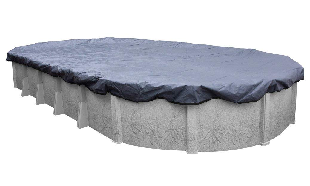 Pool Mate 341218-4-PM Commercial-Grade Winter Oval Above-Ground Cover, 12 x 18-ft. Pool, Slate Blue