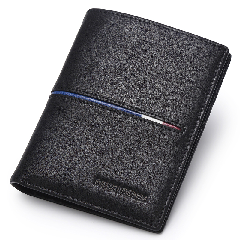 High Quality <strong>Mens</strong> Custom Logo Black Handmade Travel Bifold Genuine Leather Wallet For <strong>Men</strong>