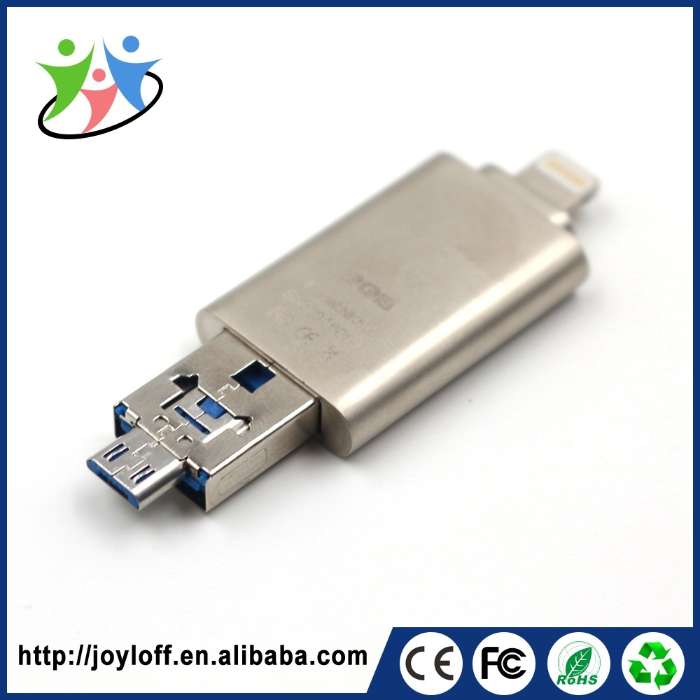 Good Quality Dual Double Plug Interface Otg Mobile Phone Pc 128gb <strong>Usb</strong> 2.0 Blank <strong>Usb</strong> Stick