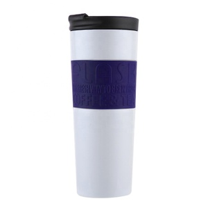 20 oz keep hot and cold double wall vacuum insulated stainless steel coffee mug white with lid with wide mouth