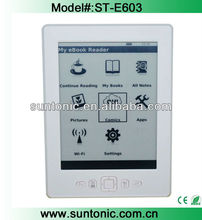 cheap e ink reader 6inch with wifi