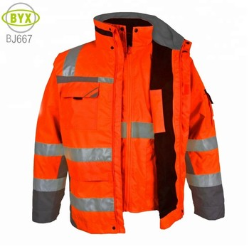 7 In 1 Bomber Jackets Men's Tactical Cheap Reversible Parka Workwear Safety