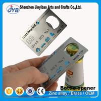 stainless steel opener custom metal business card beer bottle opener