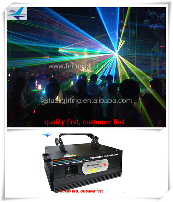Laser light computer control 3w rgb laser light 3000mw laser projector