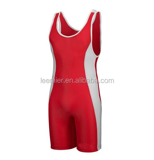 Classic style custom red color wrestling wear/gear