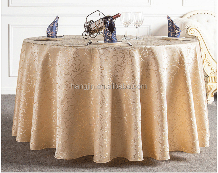 Customized 100% Polyester Wedding,Banquet,Party,Hotel,Outdoor Use Table Cover Round Table Cloth