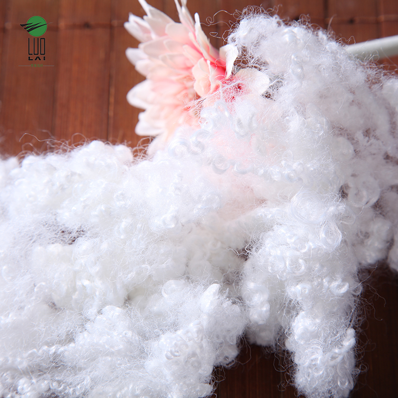 7D*64 virgin grade hollow conjugated siliconized polyester staple white fiber