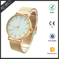 2017 new style competitive price Japan movt quartz stainless steel back mesh strap band watch from Shenzhen factory