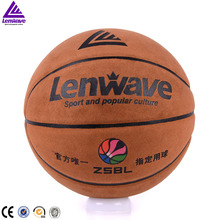 Lenwave brand pu leather best price customize your own basketball