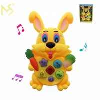 Beat selling rabbit electrical music kids toy made in china