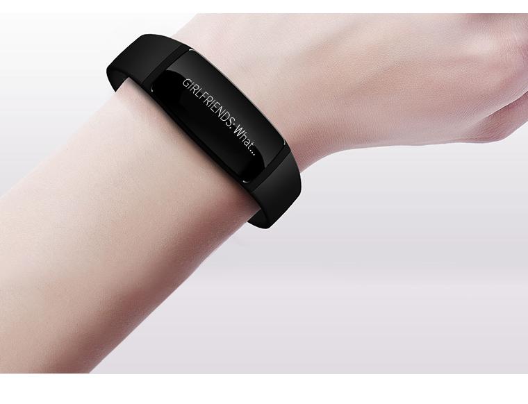 Long Lifetime Black Message Push Bracelet Smartband