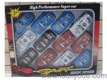 12PCS Promotional Toy Road Champs 1: Scale Pull Back cars wholesale