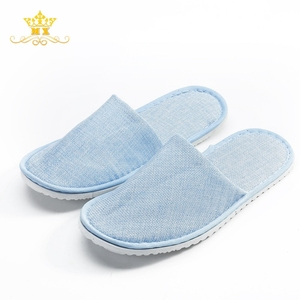 Good quality blue flax material new eva adult medical slipper