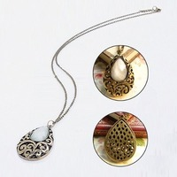 Women Costume Jewelry Pendant Necklace Long Sweater Chain
