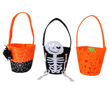 Halloween Holiday Smile Pumpkin Bag Kids Candy Bag Children Handbag Birthday Party Supplies Trick or Treat