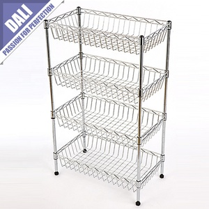 Custom Metal Frame Adjustable Shelving Unit with Glossy Shelves