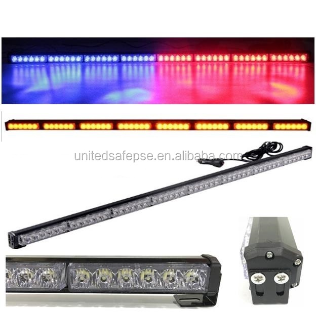 8* 6 led car strobe flashing light/led traffic advisor light bar/emergency vehicle directional warning strobe light bar