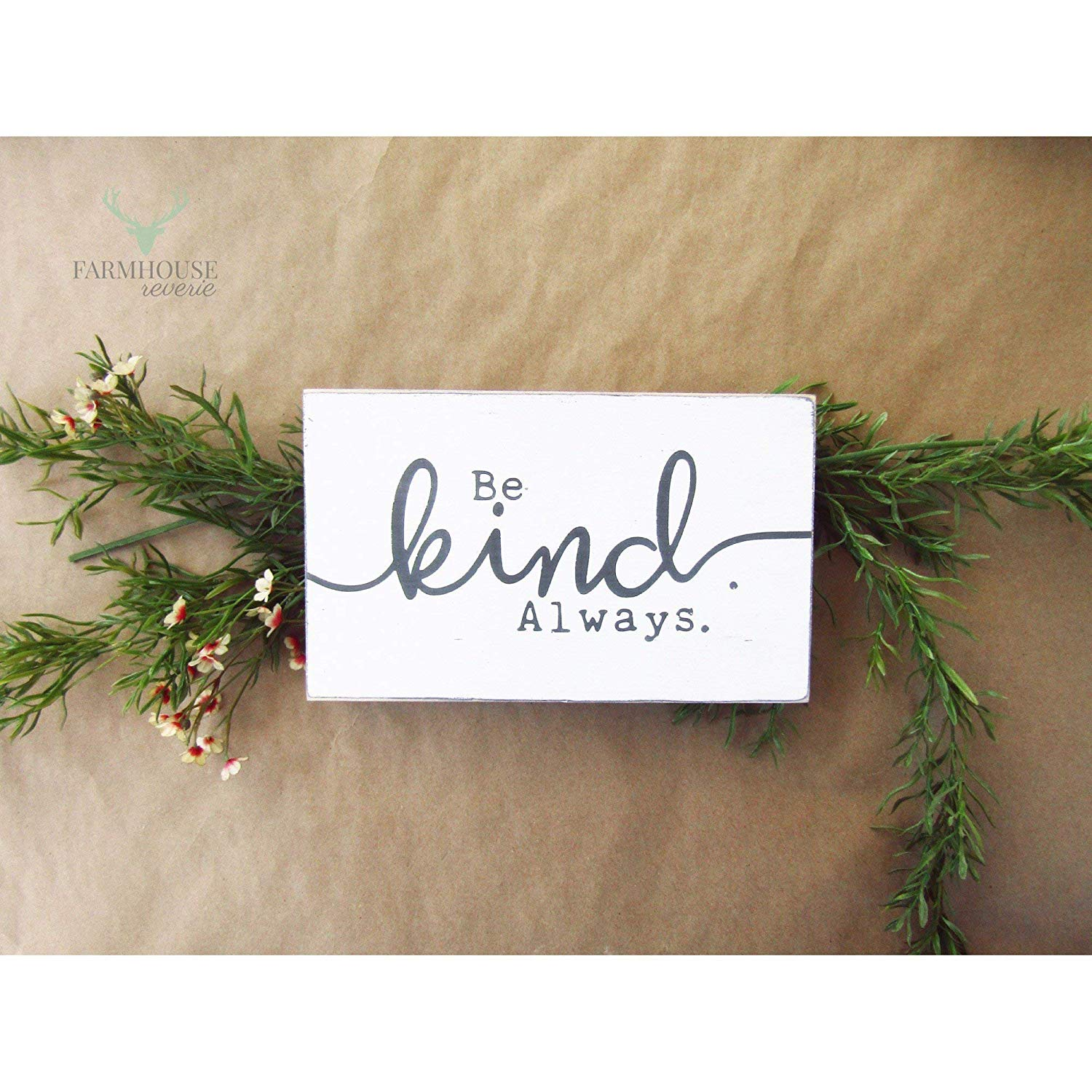 Rustic Be Kind Sign (Small Rustic Wood Sign, Farmhouse Sign, Shabby Chic Sign, French Country Signs, Farmhouse Home Decor, Rustic Home Decor, Primitive Signs, Primitive Decor, Shabby Chic Decor)