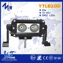 Factory selling intensity led driving spot light bar light for trucks 20w motorcycle light wiring relay