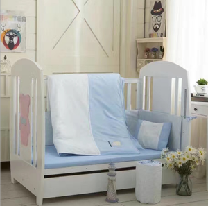 Pure cotton crib kit for seven sets of infant four-piece baby bedding set