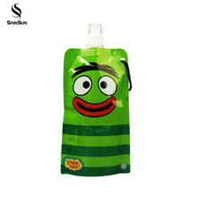 Stand Up Foldable Drinking Water Plastic Spout Pouch Packaging Bag For Juice Beverage