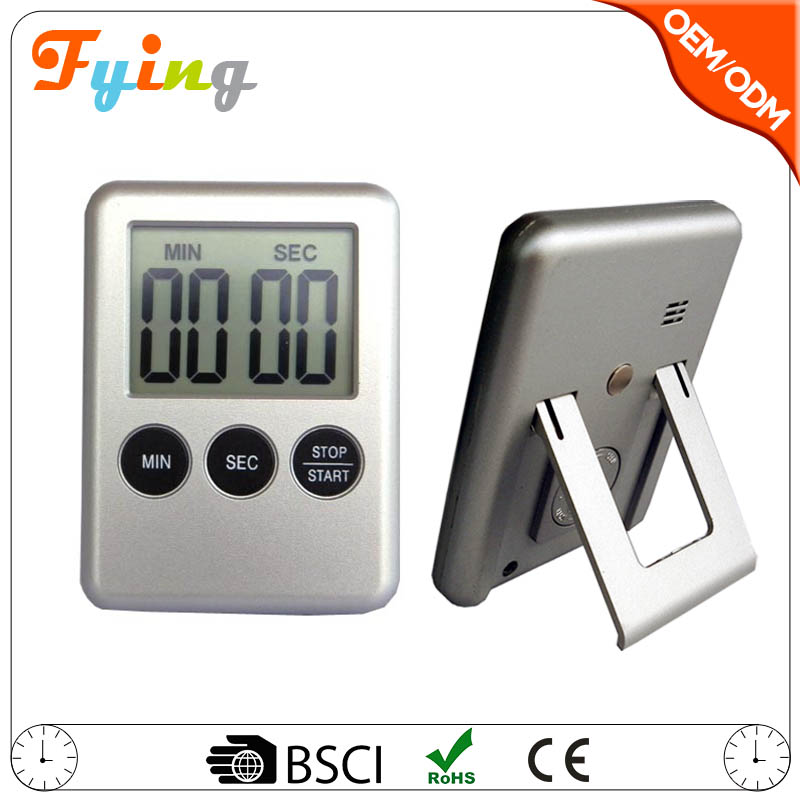 fashion countdown and up Kitchen digital timer , electrical magnet refrigerator timer with stand