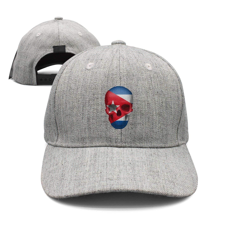 Haydner Moosers Cuban Skull Flag Unisex Baseball Hats Adjustable Trucker Cap