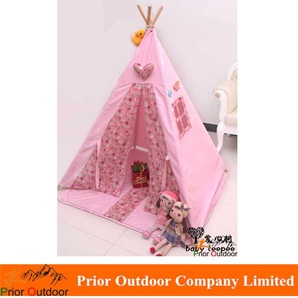 tipi indianerzelte kinder zelt baby spielhaus umweltqualit t portable outdoor prinzessin rosa. Black Bedroom Furniture Sets. Home Design Ideas